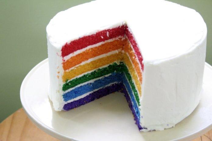 торт радуга с натуральными красителем рецепты