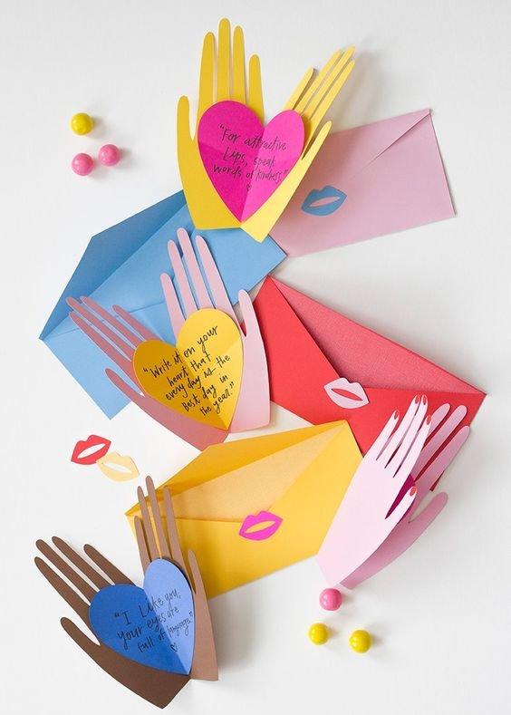 Поздравление, открытка для родителей своими руками для детей