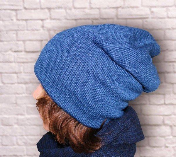 Вязание шапки бини лицевой гладью 893