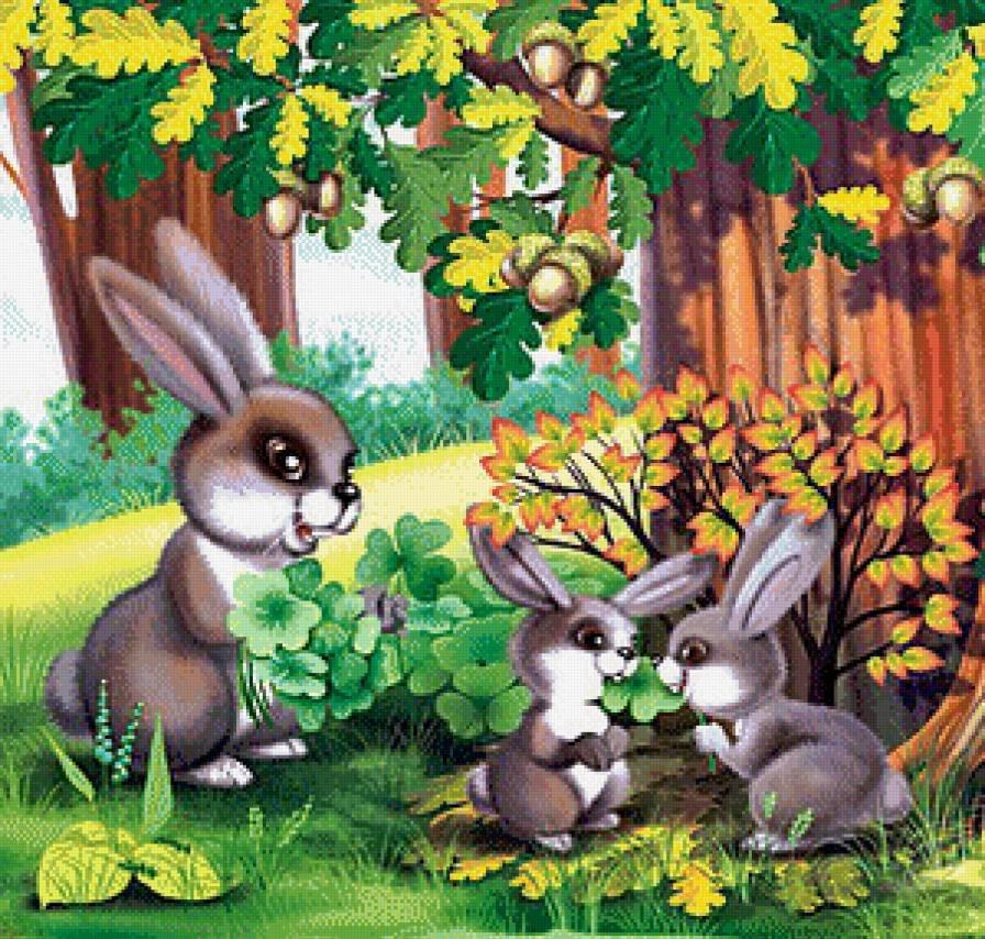 Картинка звери в осеннем лесу для детей