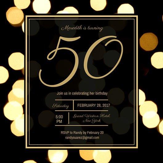 Текст для приглашения на юбилей 50 лет