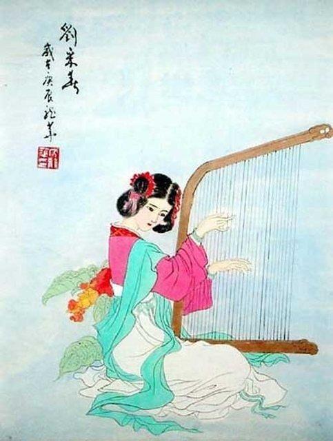 предлагает девушке старые японские открытки подмигивает то, что описание