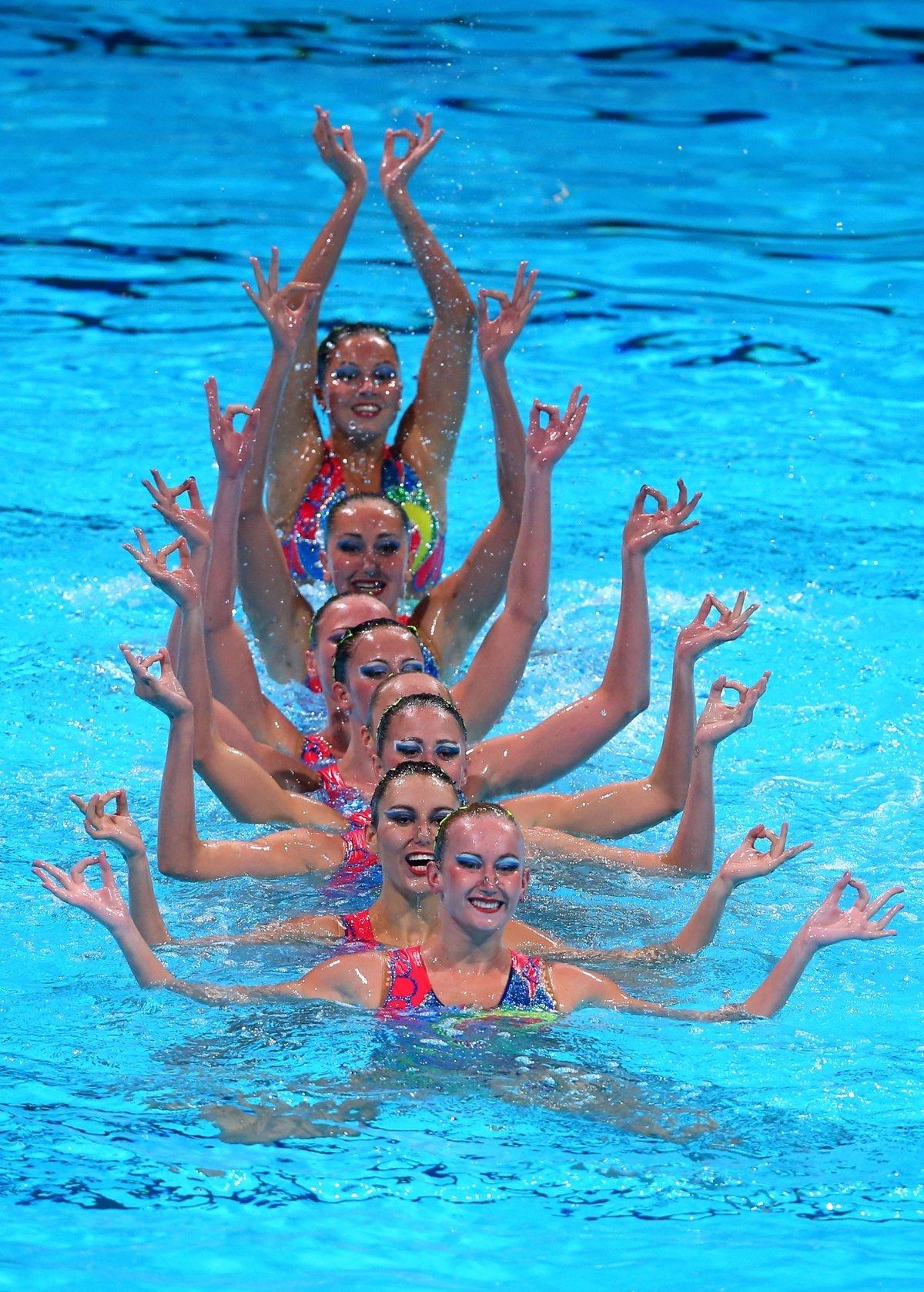 картинки синхронного плавания только