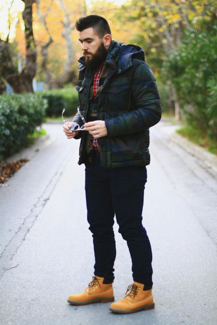 стараемся показывать как носить тимберленды с джинсами мужчинам фото снимать только
