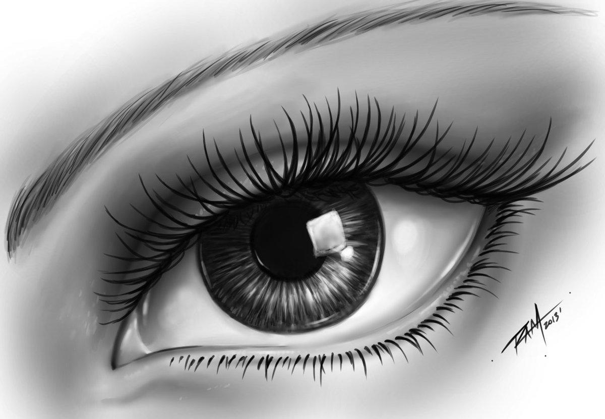 Красивые рисунки карандашом глаза для срисовки
