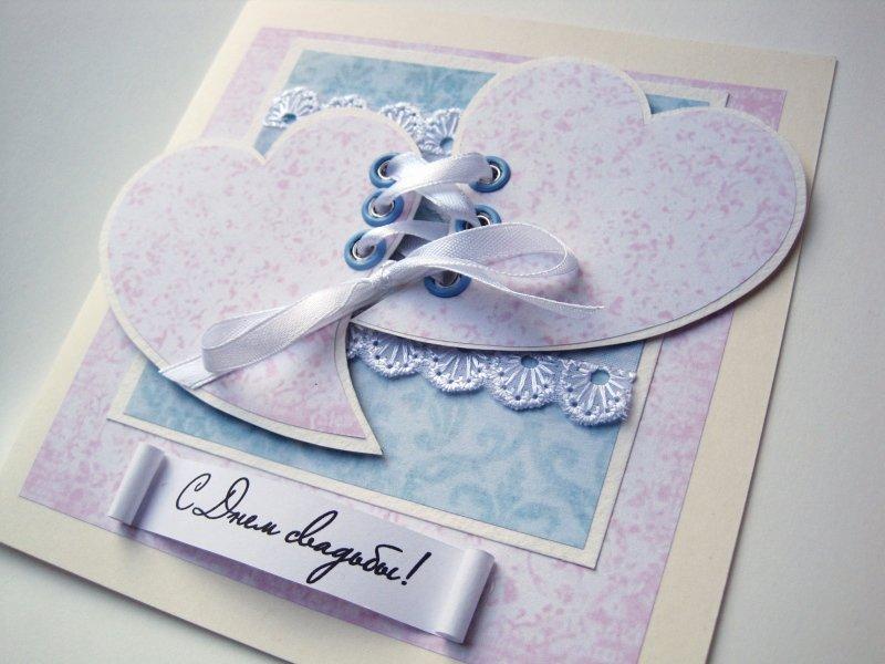 Простая открытка на годовщину свадьбы своими руками