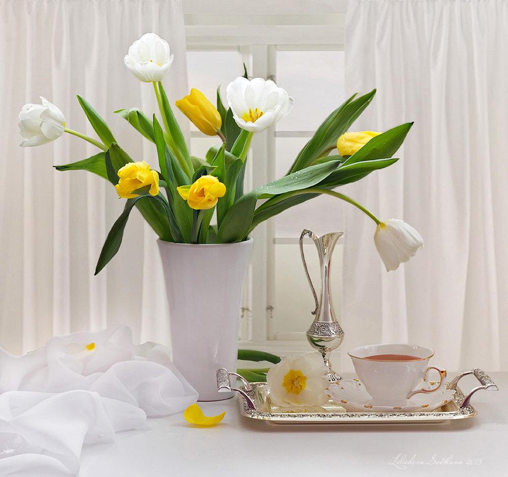 Доброе утро картинки с цветами весенние