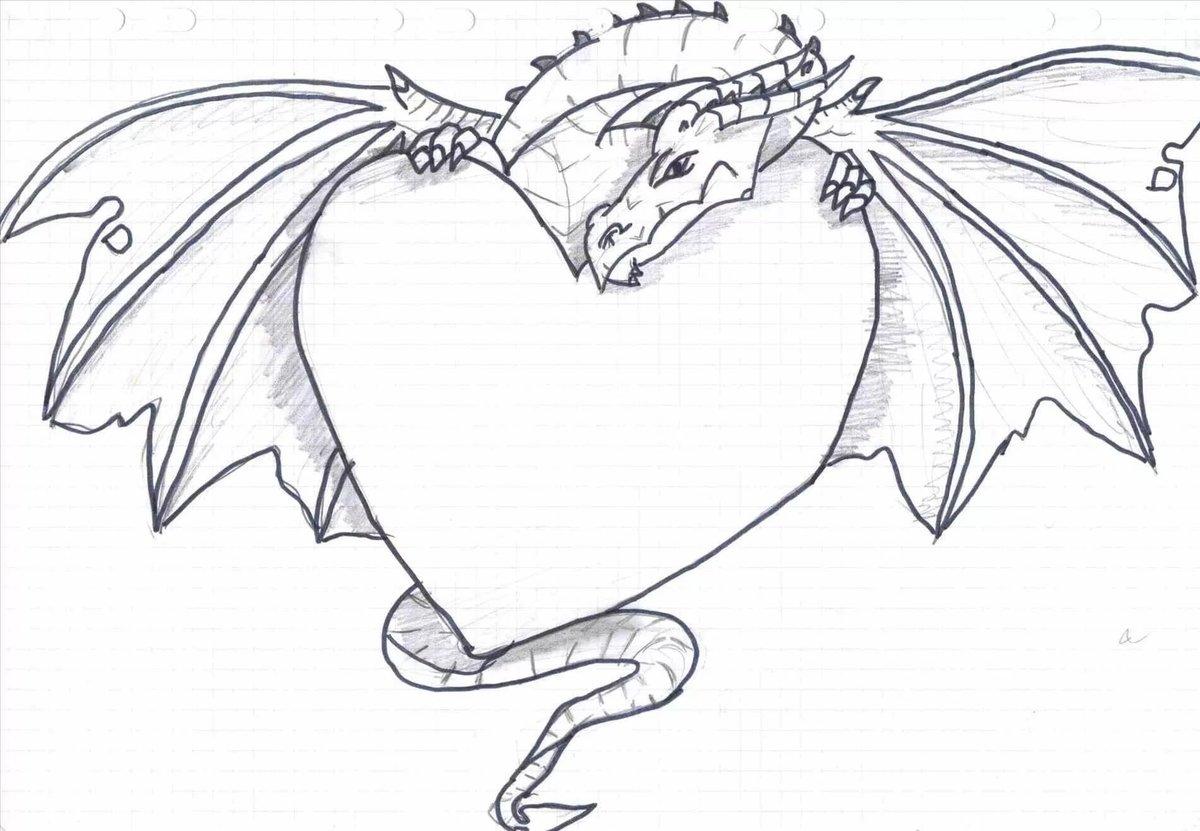 Нарисовать рисунок дракона легко
