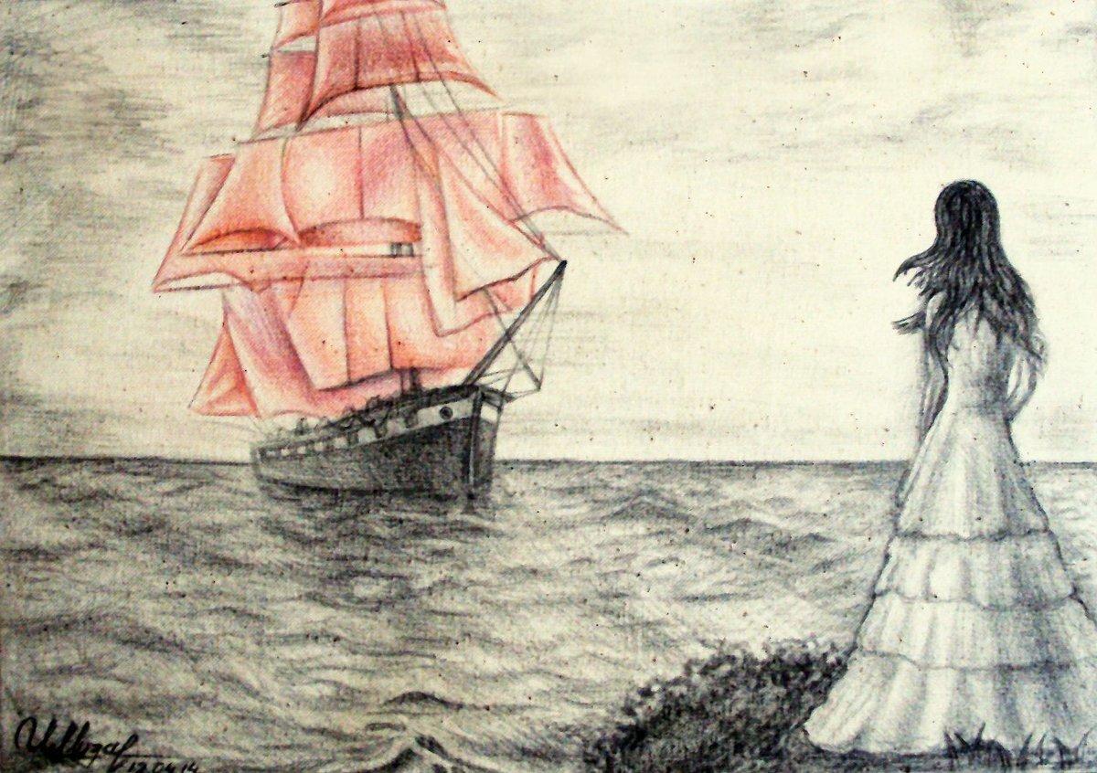 картинка алые паруса нарисовать барной стойке