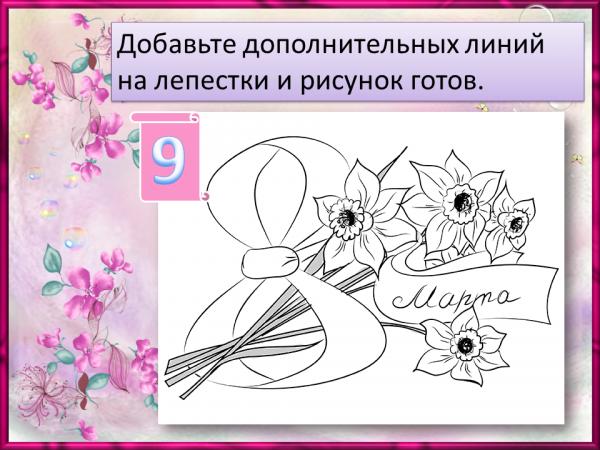Докладчик выступает, поэтапное рисование поздравительной открытки 3 класс