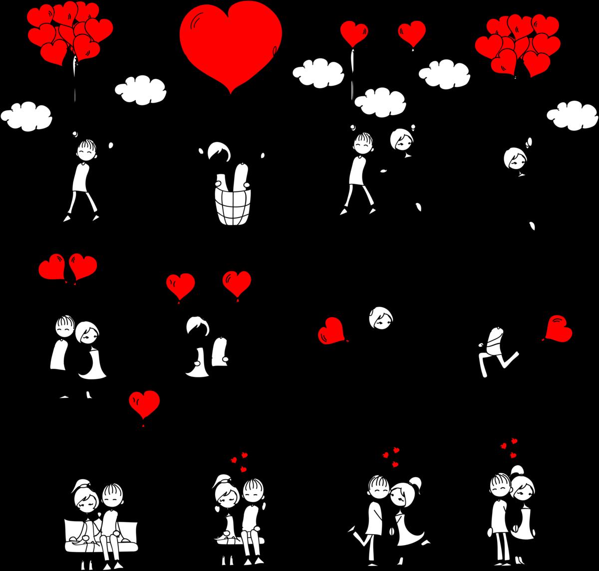 Прикольные нарисованные картинки про любовь, открытки