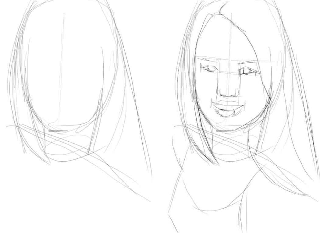 Картинки по этапно рисовать людей