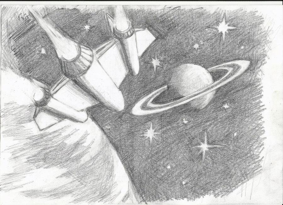 Картинки на тему космонавтики карандашом, фон для мужской