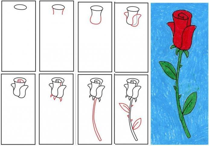 Нарисовать открытку маме на день рождения очень красивую но несложную