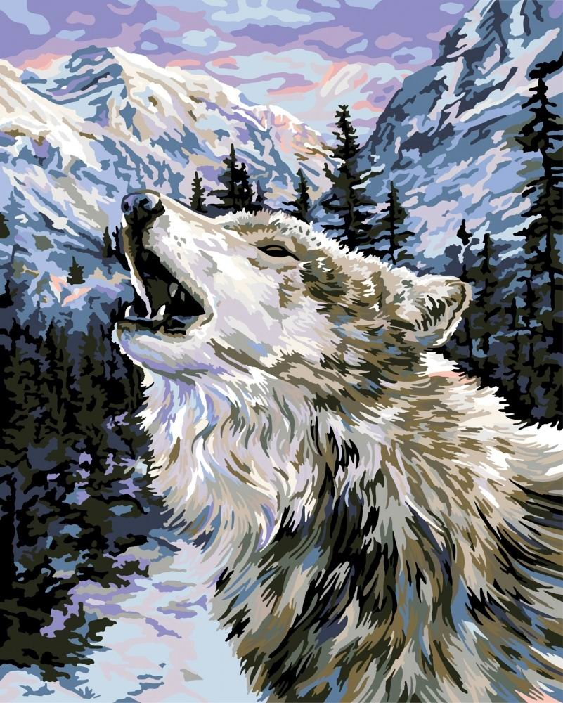 Картинки волки красками