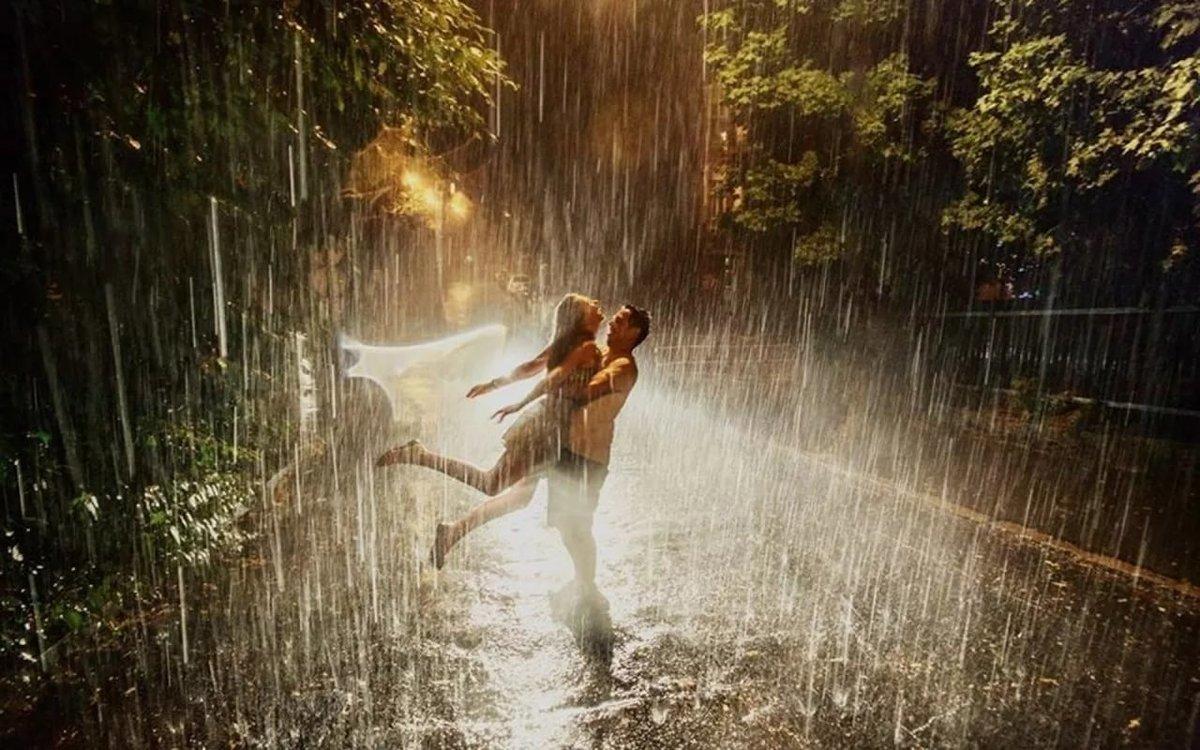 Красивые картинки, картинки двое под дождем без зонта