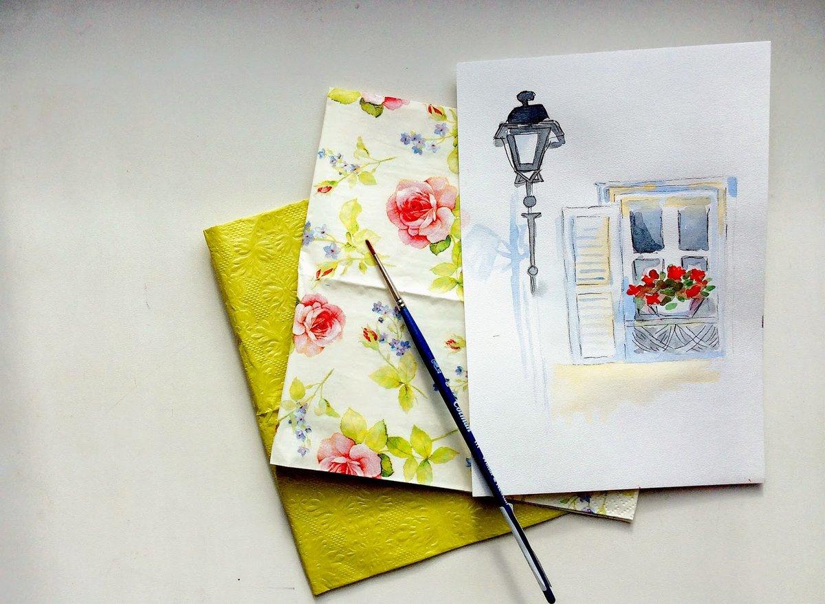 Как сделать акварельную открытку своими руками