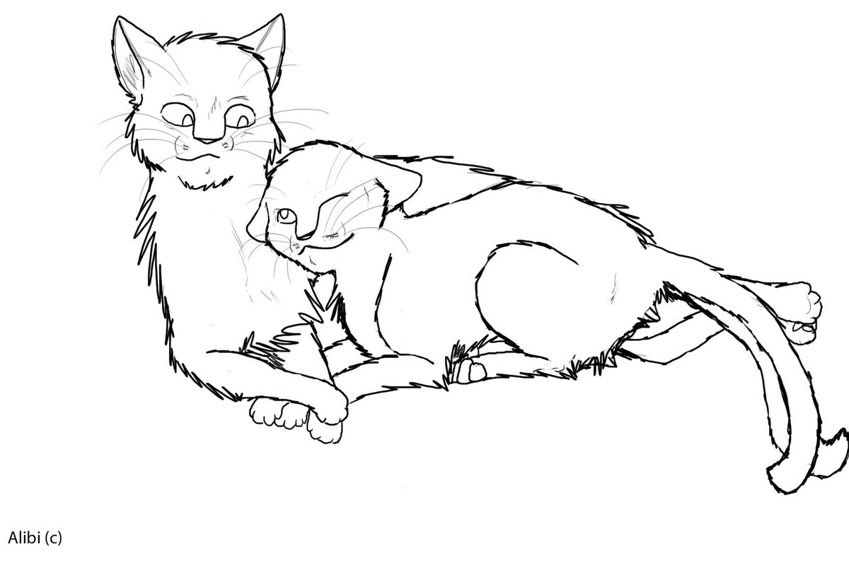 11 Images Of Warrior Cats Mates Coloring Pages