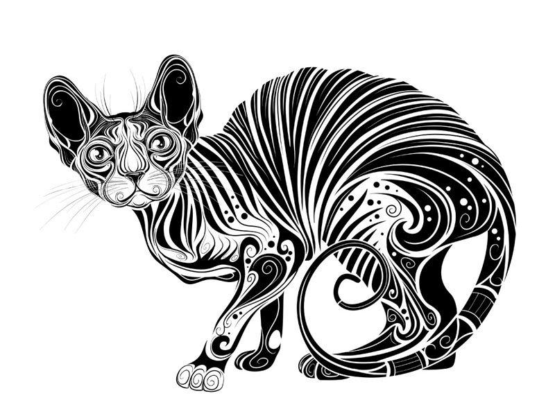 векторные черно белые картинки животных обуви своими руками