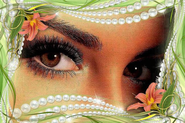Картинки, открытка карие глаза