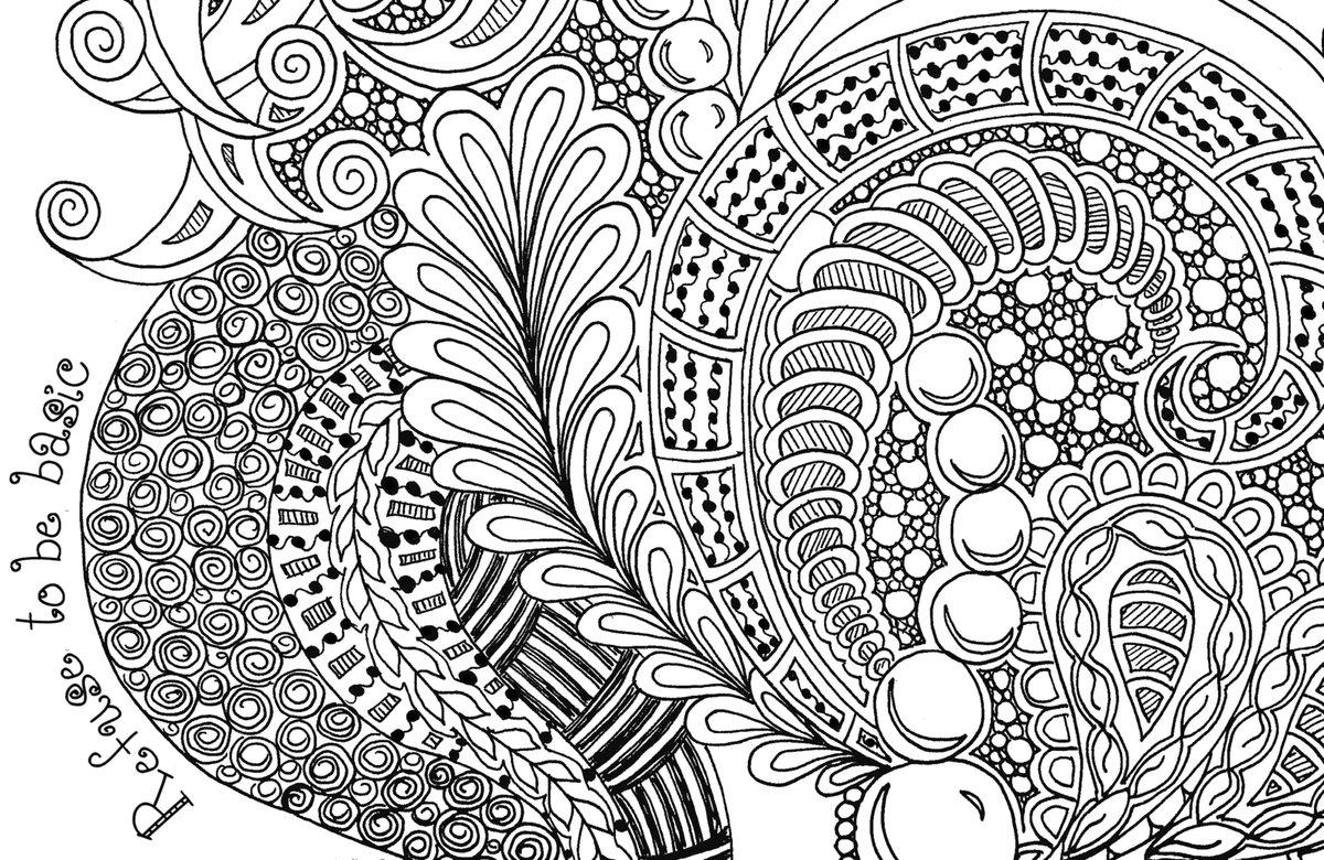 картинки раскраски антистрессовые саду сразу