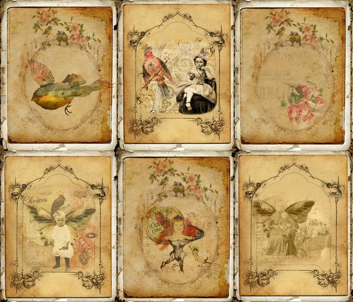 Картинка елочка, открытка в старинном стиле