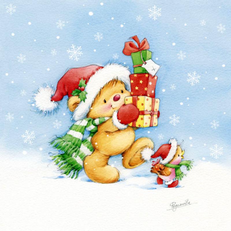 Открытки, красивые открытки детские на новый год