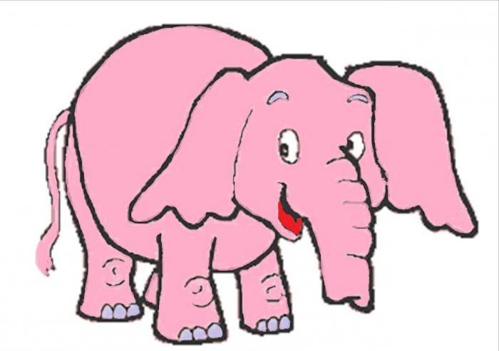 Розовый слон картинки карандашом, картинки