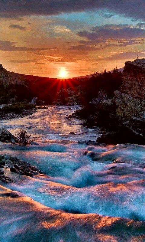 Гифы закат в горах, сорок лет мужчине