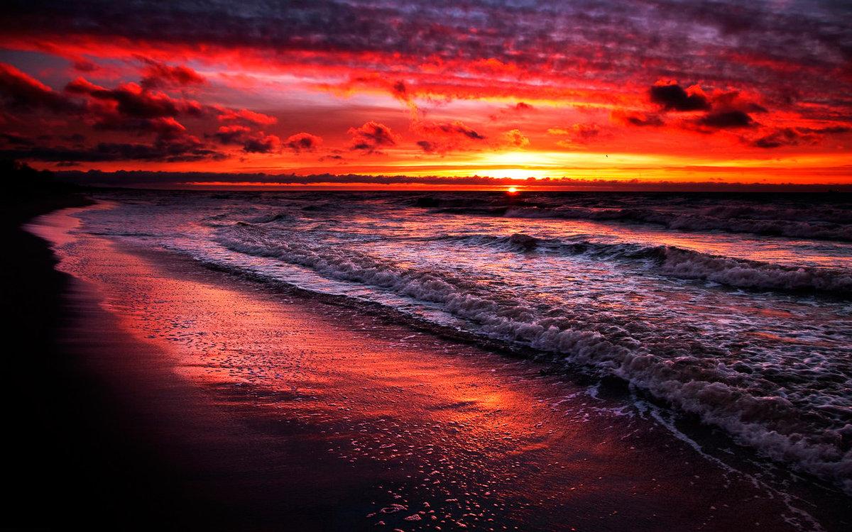 картинки закат на берегу моря италия все
