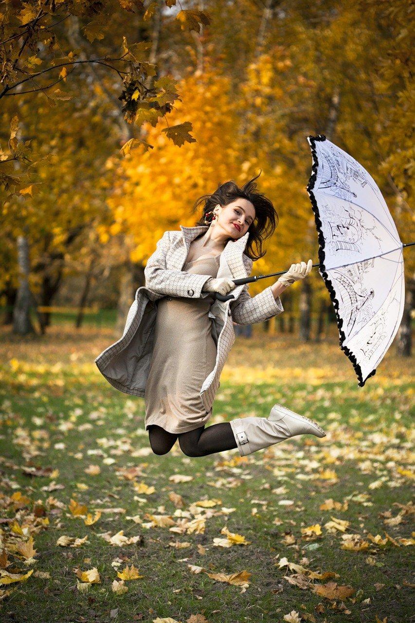 Аист, картинки девушка с зонтиком в осеннем парке