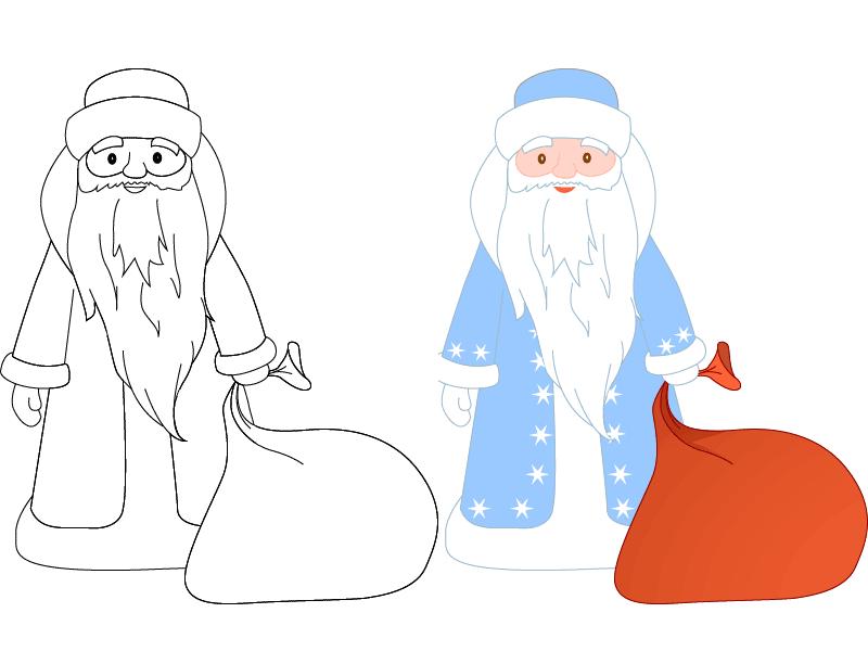 Днем, картинки на новый год нарисовать деда мороза