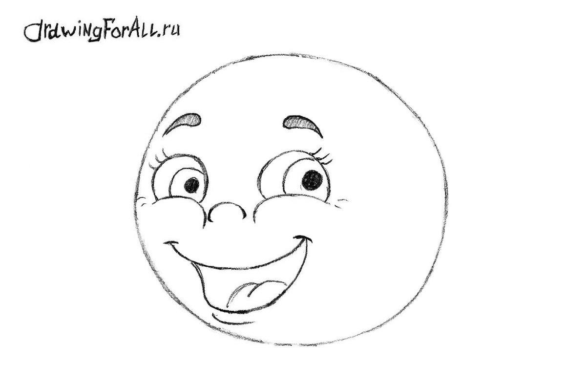 Иллюстрации к сказке колобок поэтапно помощью