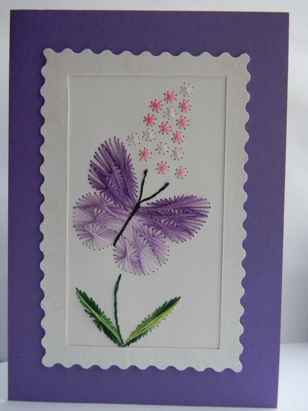 Открытка с изонити, юбилеем открытка цветами