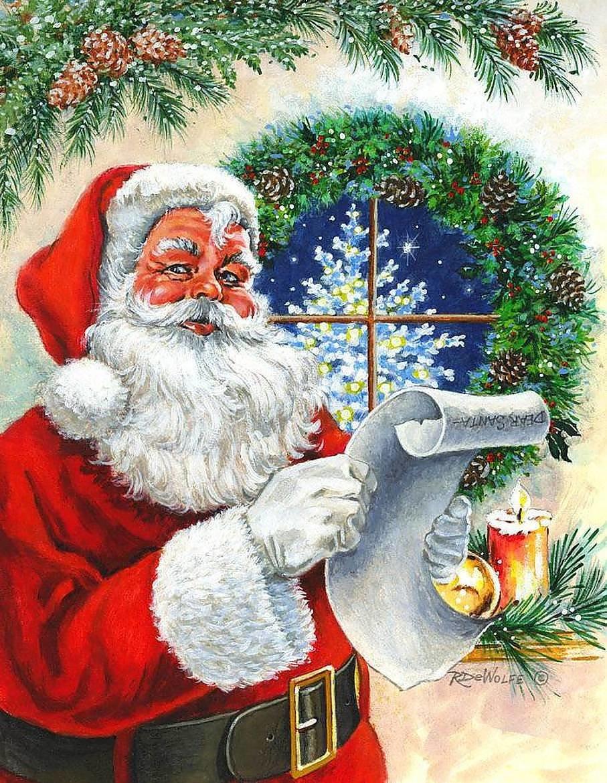 Безопасность, открытка на новый год с дедом морозом нарисованные