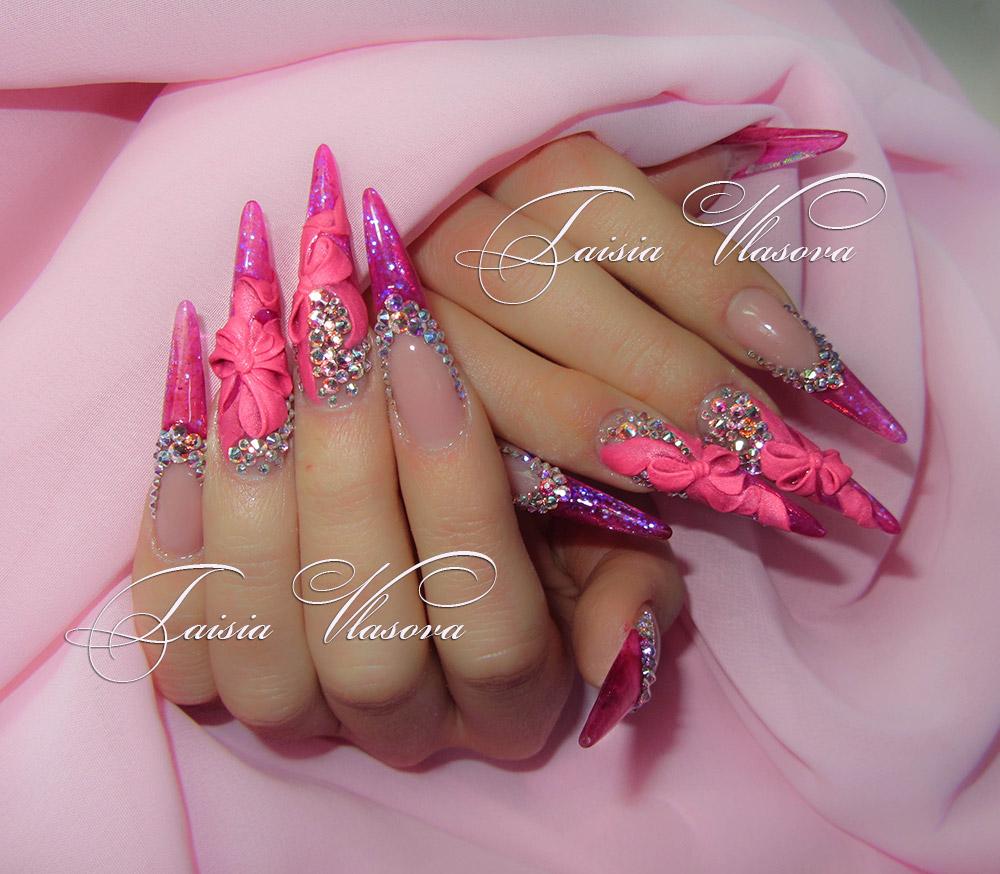 дизайн нарощенных ногтей аквариум фото - Тюменский ...