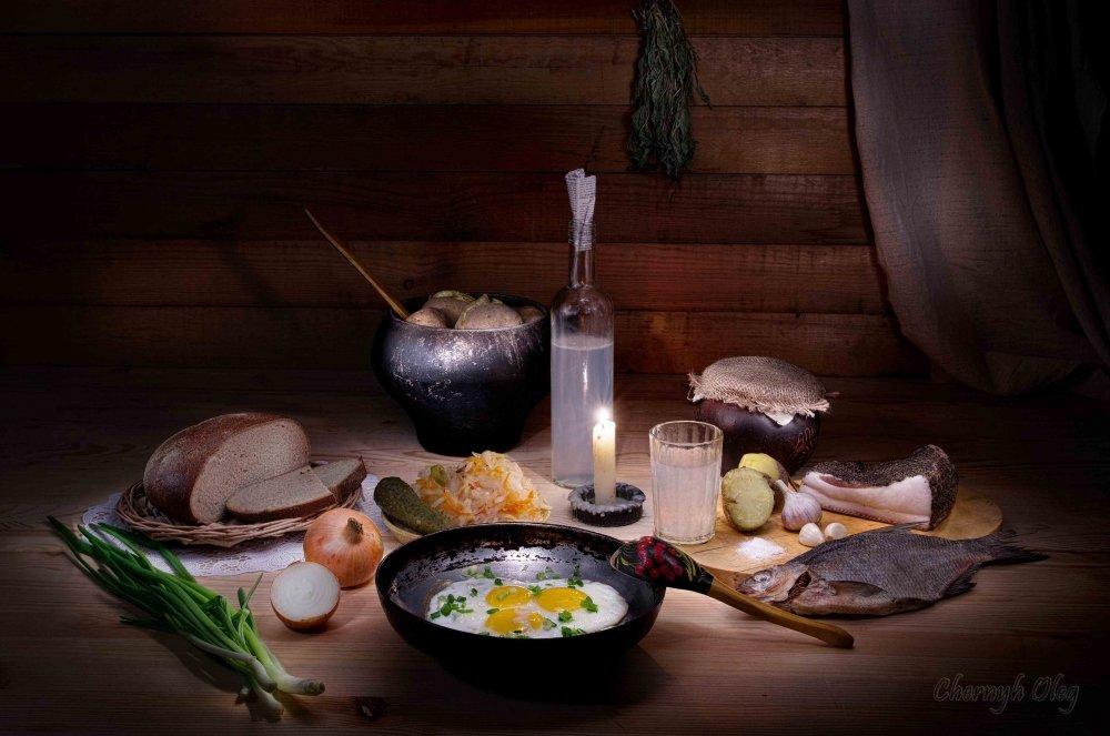 Картинки деревенский стол с едой