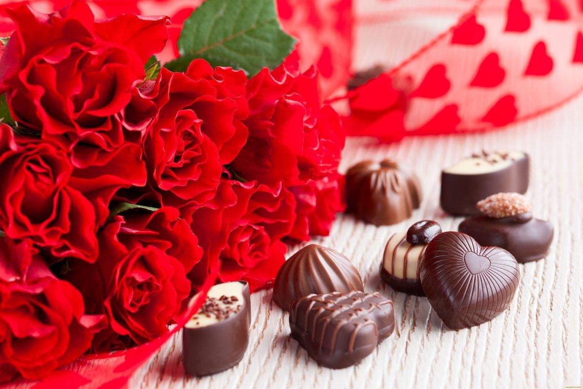 Тема, цветы и конфеты картинки