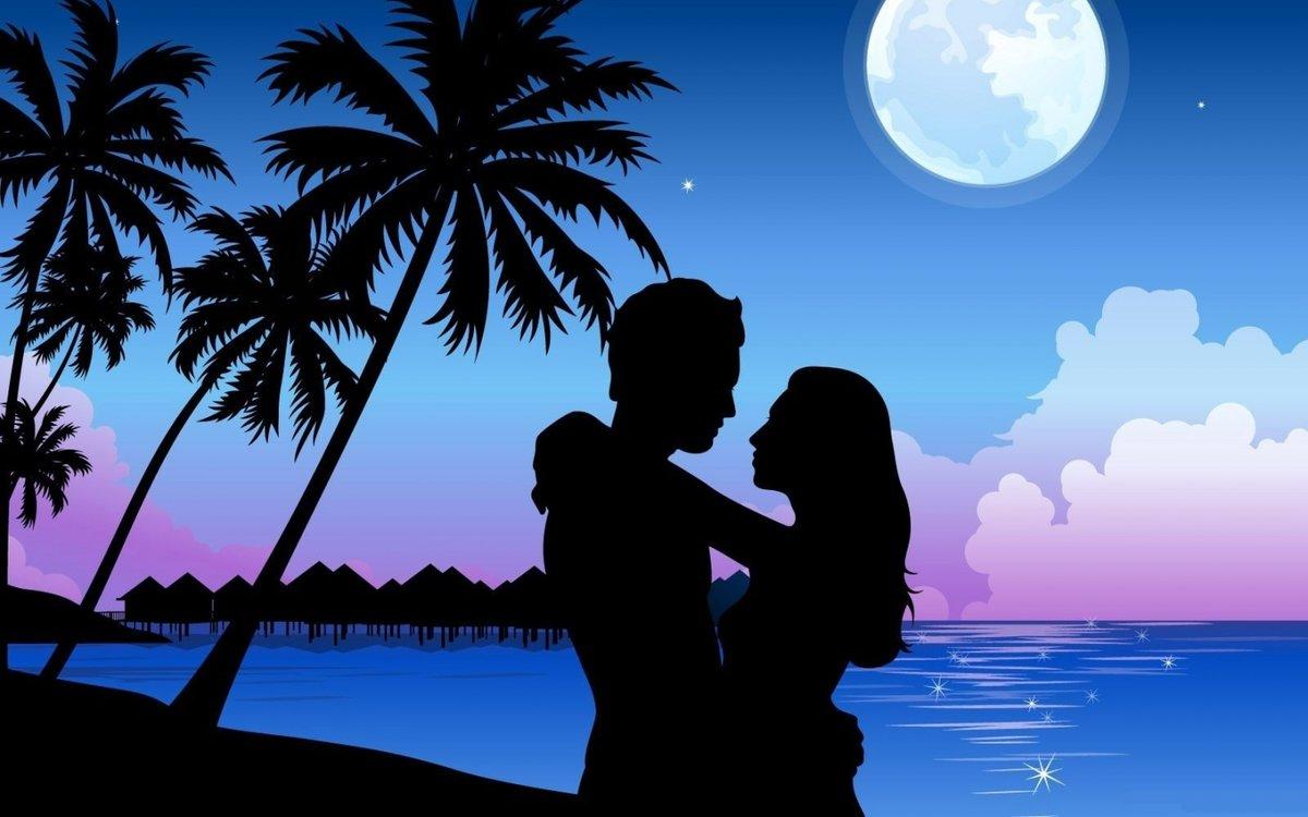 Открытки романтическая летняя ночь, картинки