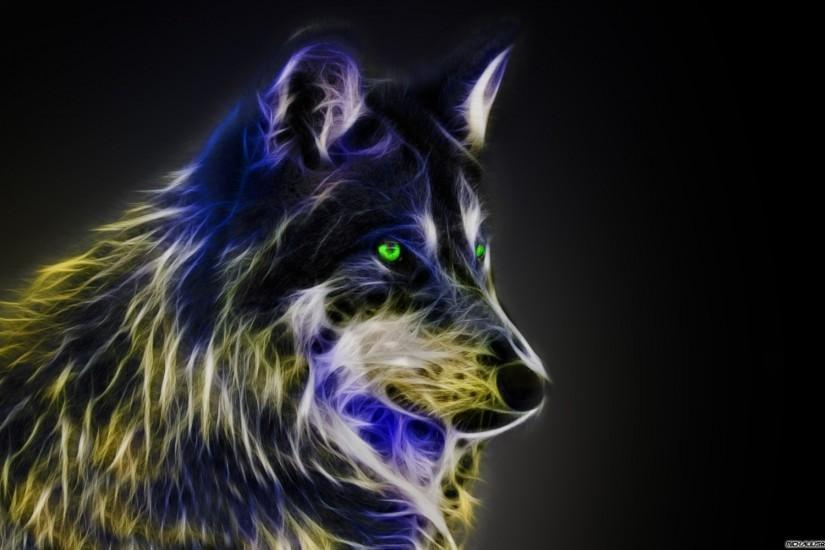 картинка волк абстракция отступившие