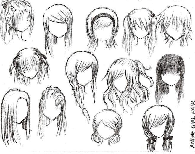 картинки волосы аниме