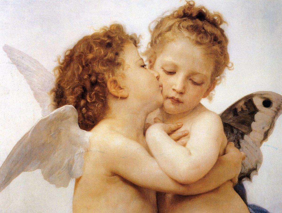 Картинка ангелочков мальчик и девочка