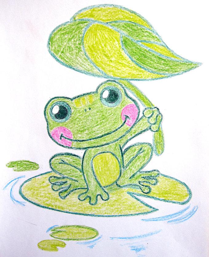 День, лягушка царевна картинки карандашом