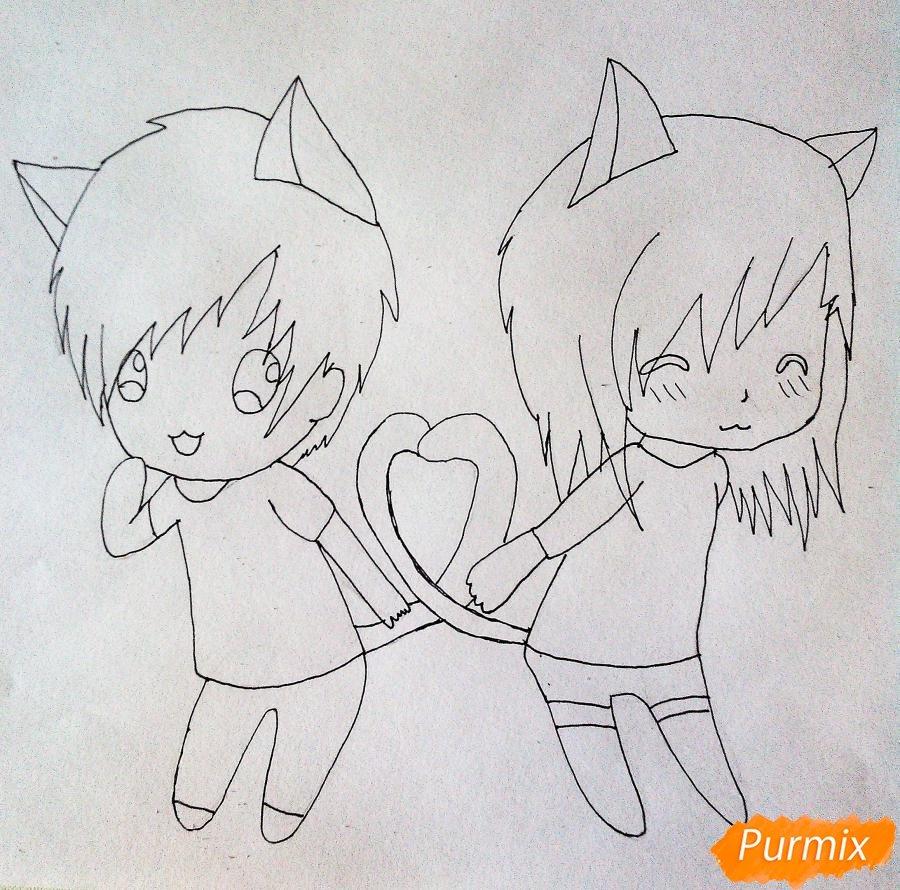 Как нарисовать пару своими руками
