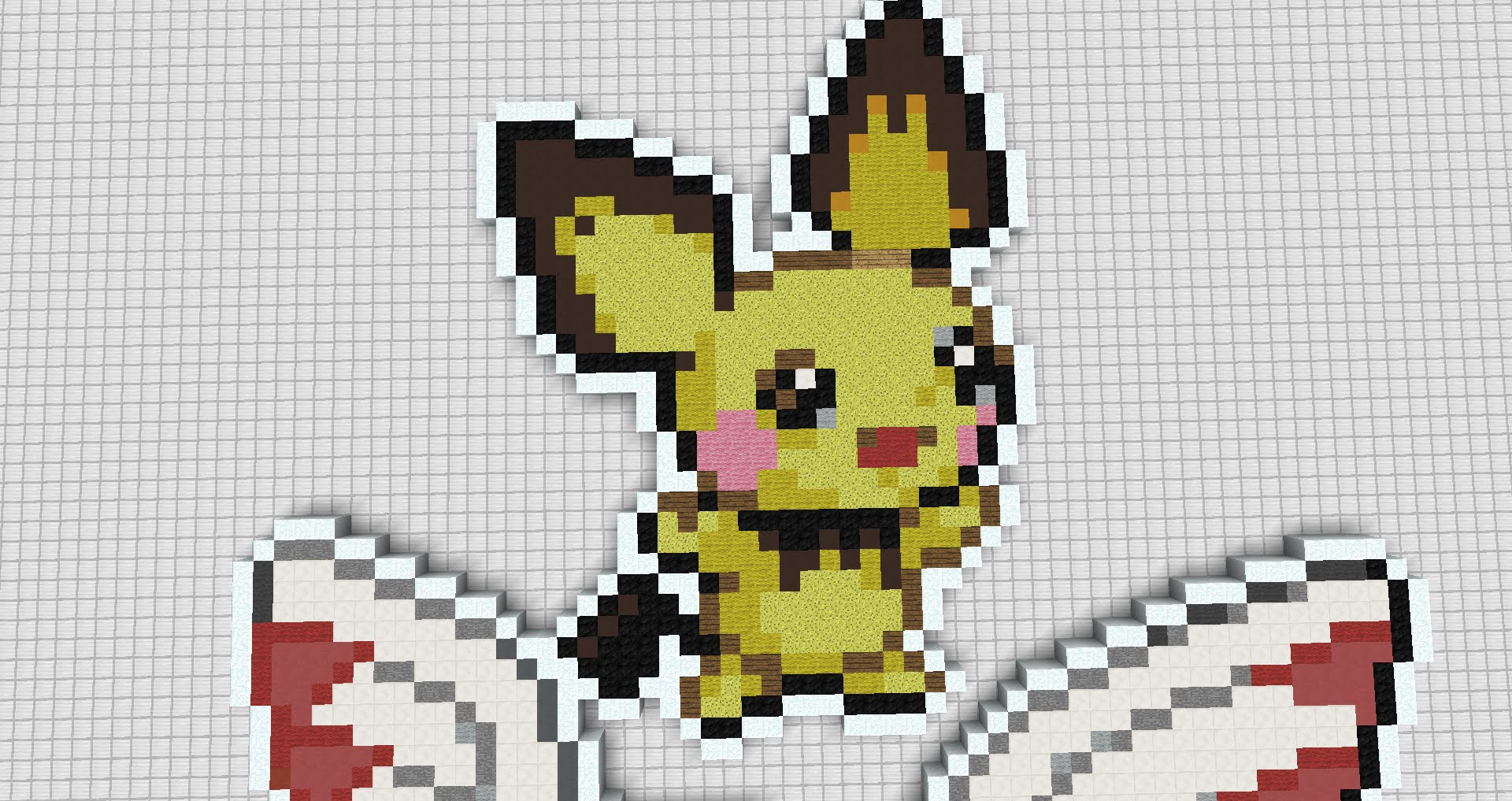 6 Minecraft Pixel Art Pokemon Pichu Youtube 6 Minecraft Pixel