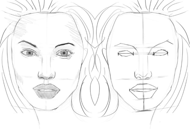 рисунки лица людей поэтапно для начинающих даже