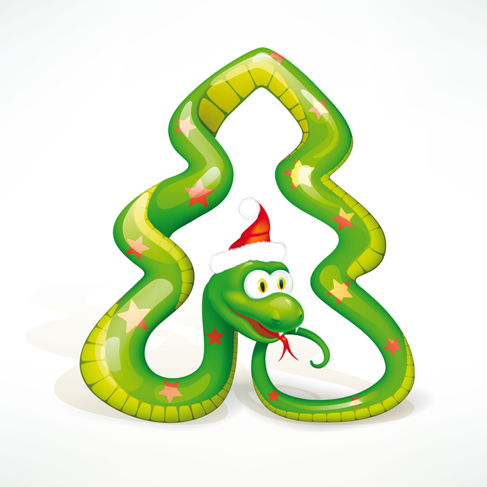 Открытка в год змеи