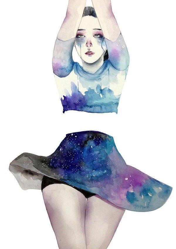 Картинки в стиле космос для срисовки, про детский