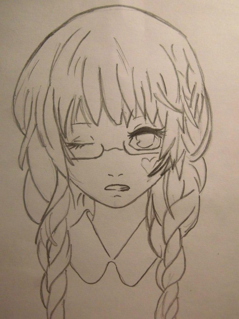 Арт девушки карандашом