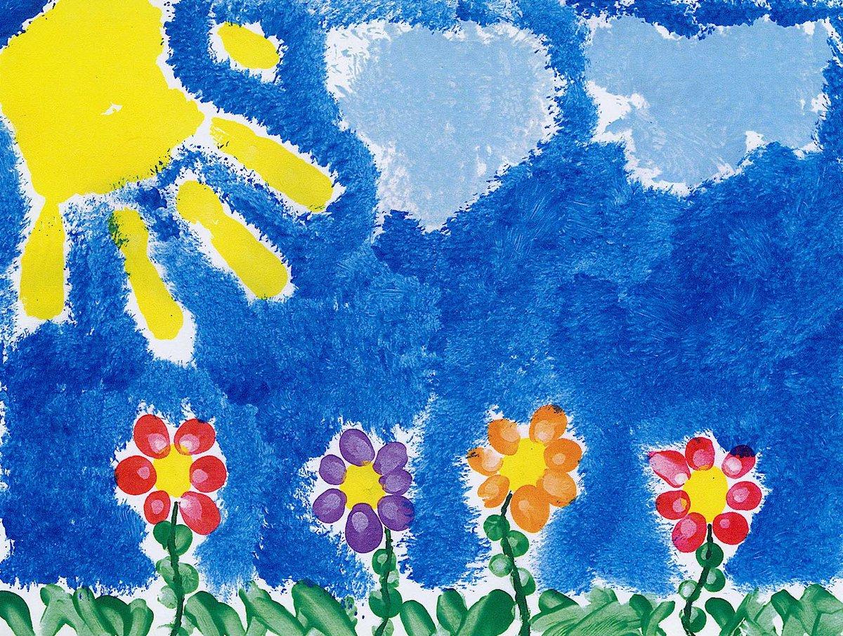 Рисование ладошками для детей 2-3 лет картинки, картинки вставка